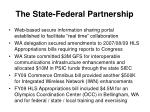 the state federal partnership