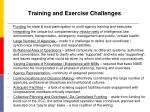 training and exercise challenges
