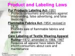product and labeling laws