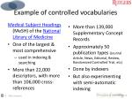 example of controlled vocabularies