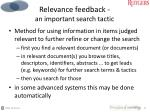 relevance feedback an important search tactic