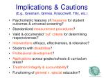 implications cautions e g gresham grimes kratochwill tilly etc