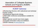 acbsp gateway