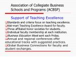 support of teaching excellence