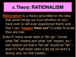 a theory rationalism