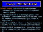 theory evidentialism