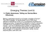emerging themes cont d12