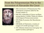 from the peloponnesian war to the succession of alexander the great