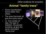 animal family trees