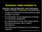 summary what evolution is