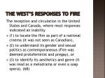 the west s responses to fire