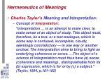 hermeneutics of meanings1