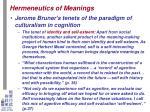 hermeneutics of meanings11