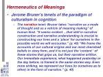 hermeneutics of meanings12