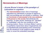 hermeneutics of meanings9