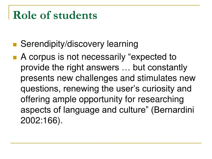 Role of students