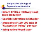 indigo after the age of explorations america