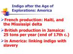 indigo after the age of explorations america1