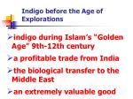 indigo before the age of explorations