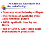 the chemical revolution and the end of indigo