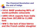 the chemical revolution and the end of indigo1