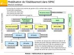 mod lisation de l tablissement dans sifac structure analytique