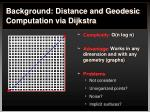 background distance and geodesic computation via dijkstra4