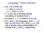 language theory review