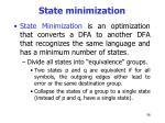 state minimization