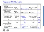 registered ams ii e projects