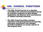 aol council functions