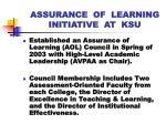 assurance of learning initiative at ksu