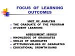 focus of learning outcomes