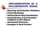 implementation of a collaborative model