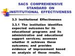 sacs comprehensive standard on institutional effectiveness