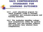 sacs comprehensive standards for learning outcomes