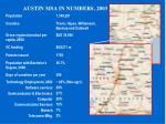austin msa in numbers 2003
