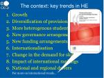 the context key trends in he