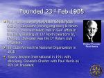 founded 23 rd feb 1905
