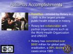 polioplus accomplishments