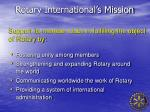 rotary international s mission