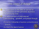 the object of rotary1