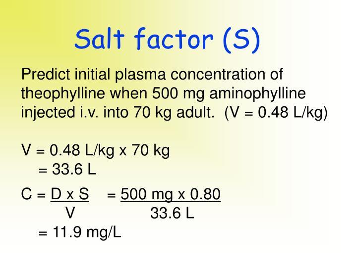 Salt factor (S)
