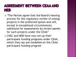 agreement between ceaa and neb