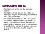 conducting the ea