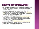 how to get information