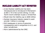 nuclear liability act revisited
