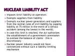 nuclear liability act