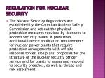 regulation for nuclear security