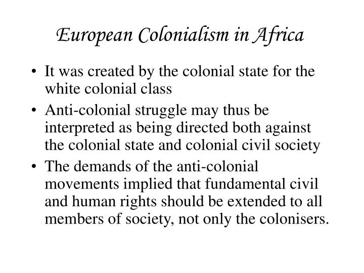european colonialism in africa n.